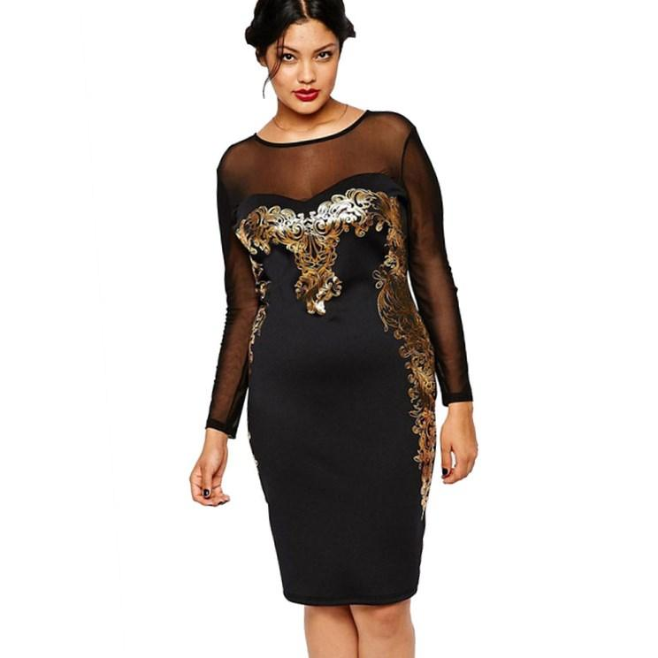 Plus Size Glitter Dresses Pluslookeu Collection