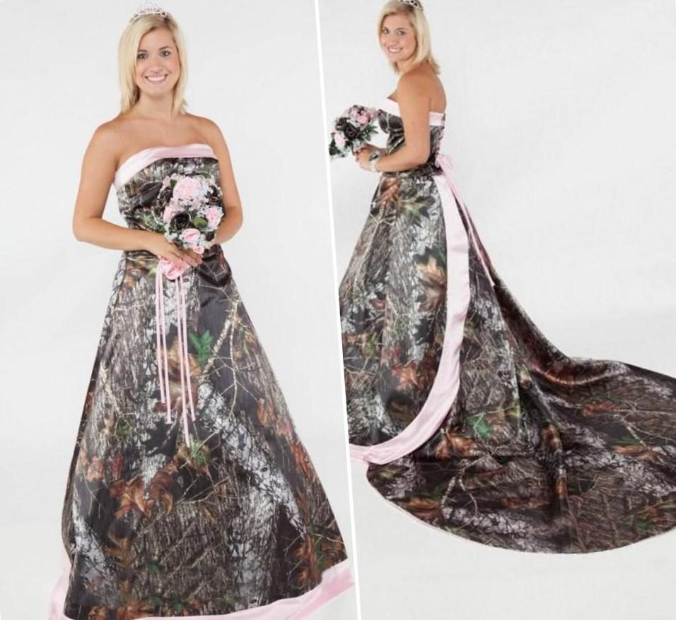 Plus Size Camo Wedding Dresses With Sleeves – DACC