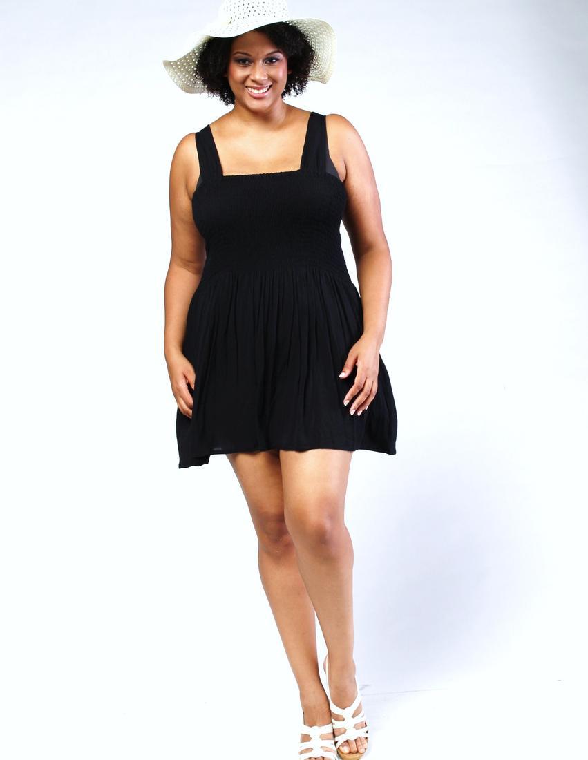 Plus size short black dresses - PlusLook.eu Collection