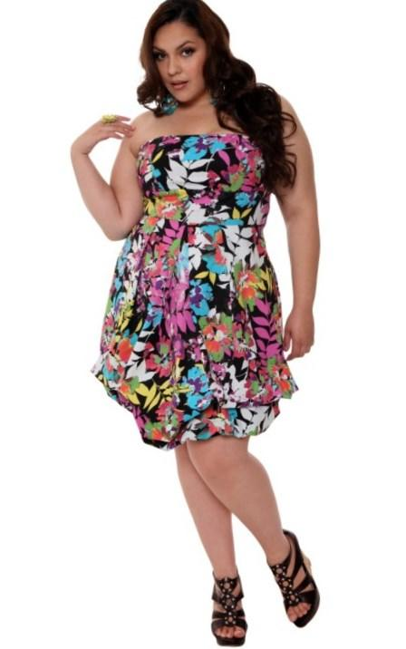 Hawaiian dress plus size - Luau Style: PlusLook.eu Collection