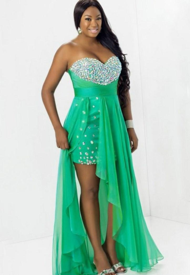 Plus size high low prom dress - PlusLook.eu Collection