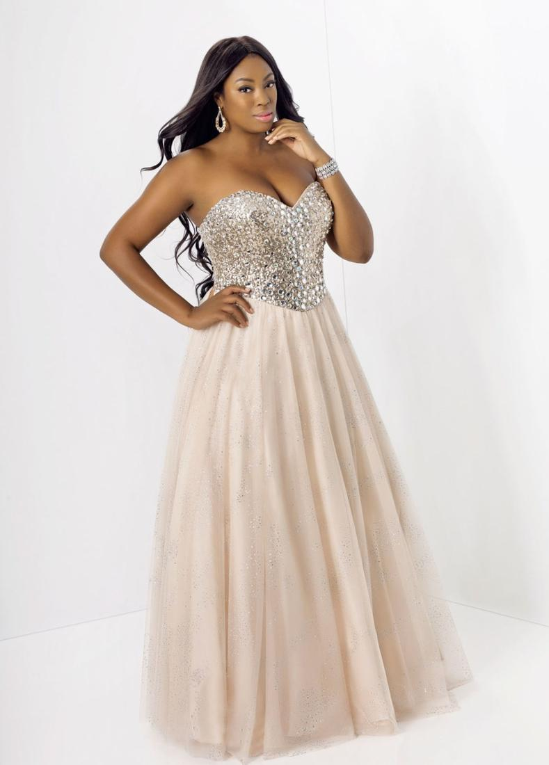 Black And Gold Prom Dress Plus Size