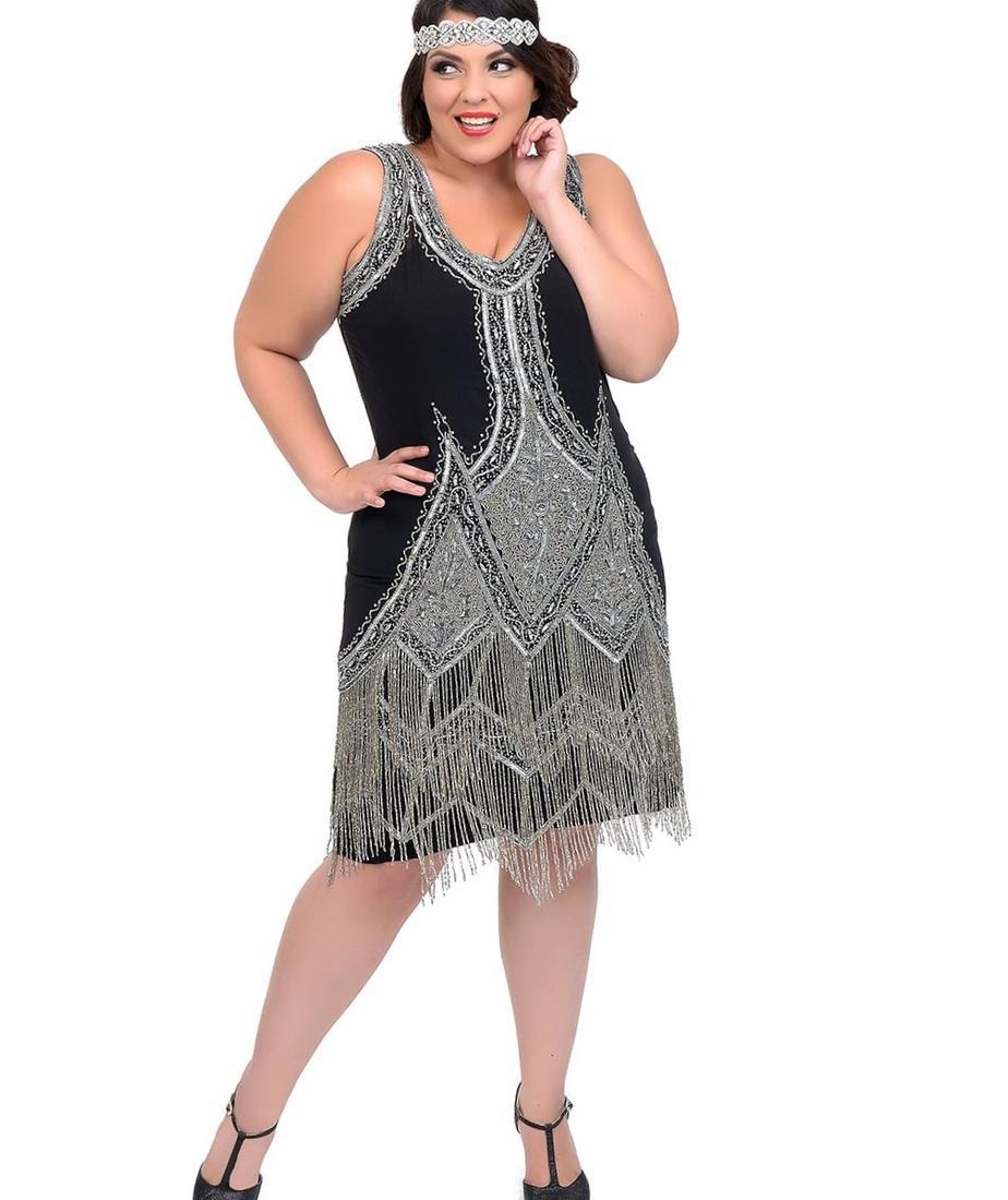 Flapper plus size dress - PlusLook.eu Collection