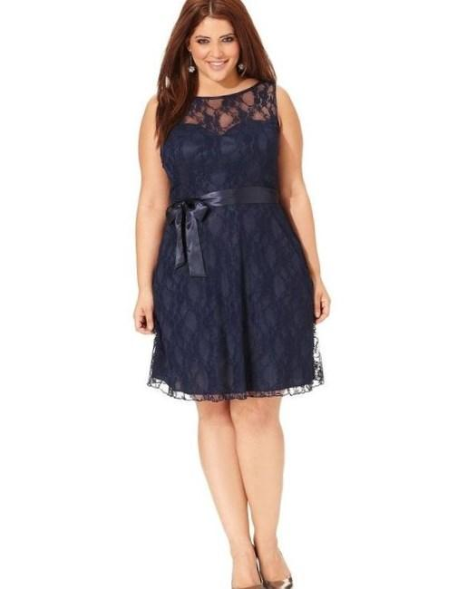 Trixxi Plus Size Dress, One-Shoulder Embellished - Plus Size Prom Dresses - Plus