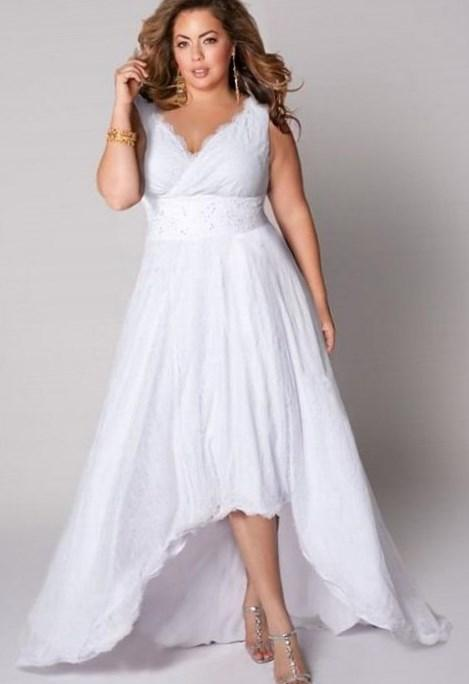 plus size casual wedding dresses plus size informal wedding dresses pluslook eu collection 6660