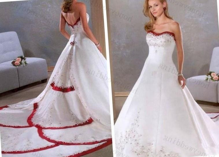 Milanoo Plus Size Lass Red And White Wedding Dresses Plus Size Red And White Wedding Dresses