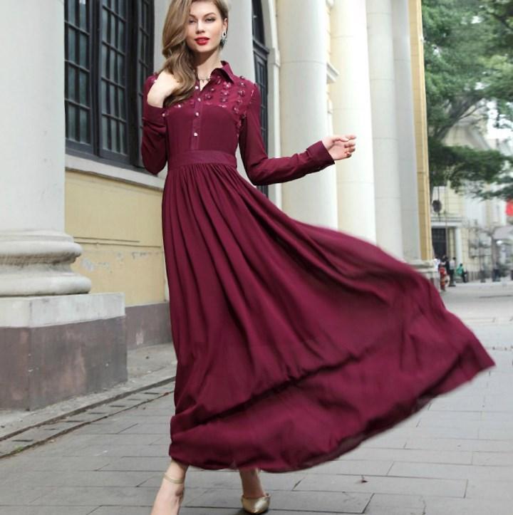 Plus size long chiffon dresses - PlusLook.eu Collection