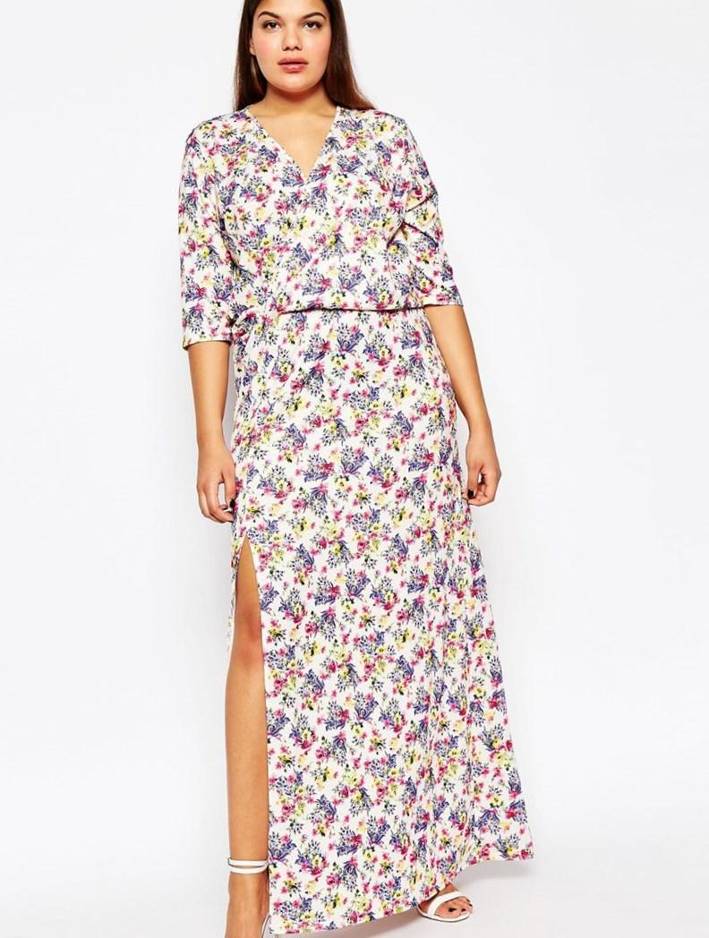 cc5e4551a5 Plus Size Floral Print Maxi Dress - Data Dynamic AG