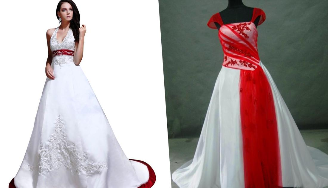Red and white plus size wedding dresses - PlusLook.eu Collection