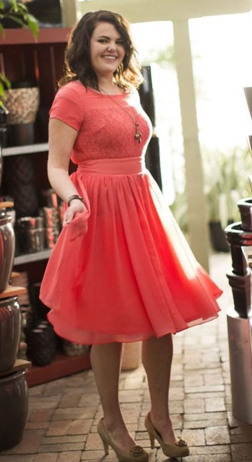 Plus size modest dress - PlusLook.eu Collection