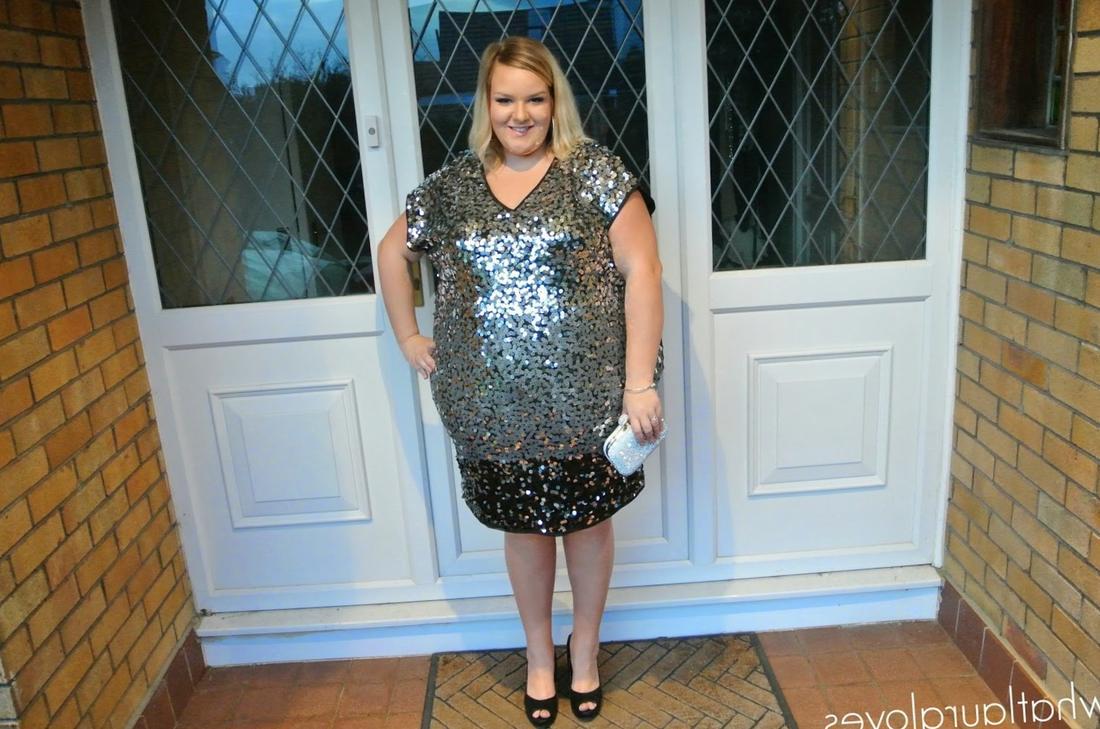 Plus size sequin party dress - PlusLook.eu Collection