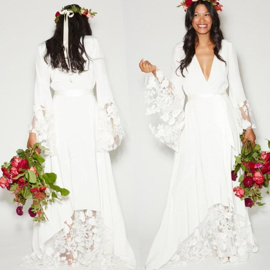 7b3fbd24adf 6 Vintage Hippie Wedding Dress Ideas and Plus Sizes for second Weddings -  Read this article
