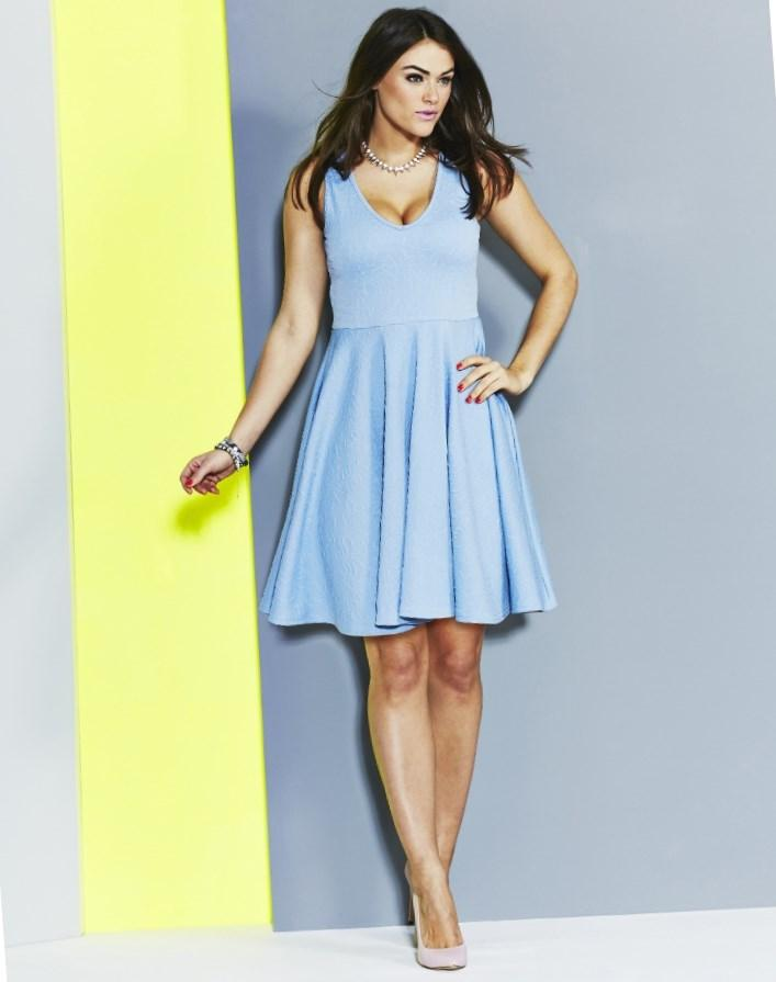 Plus Size Light Blue Dress Pluslook Eu Collection