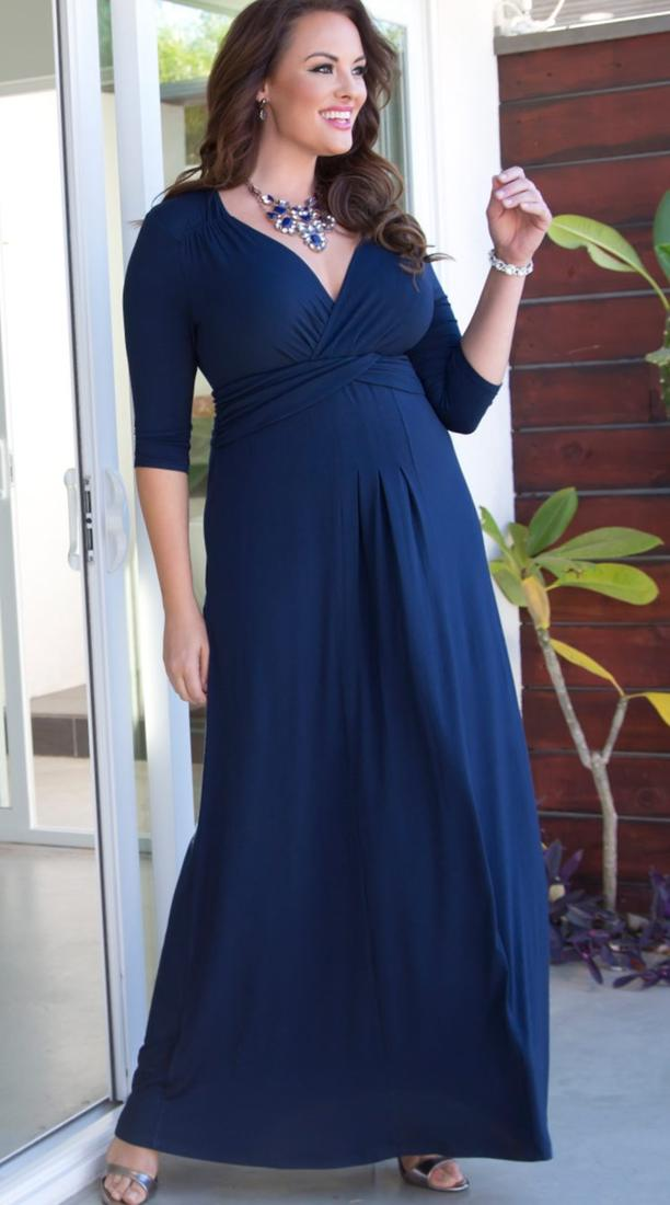 Plus size navy maxi dress - PlusLook.eu Collection