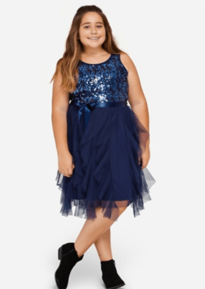 Girls plus size christmas dresses 2019 - Tween Dresses 7-16