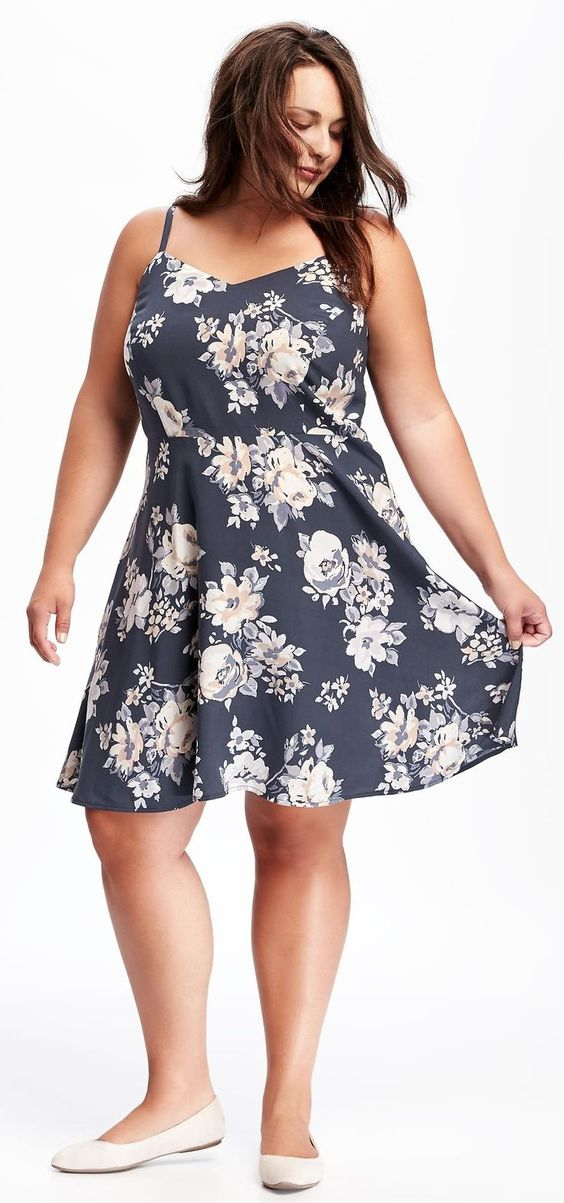 Plus Size Fit & Flare Cami Dress