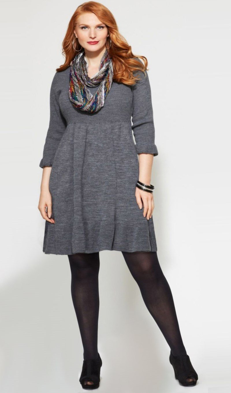 Plus Size Sweater Dresses For Fall 2019 Pluslook Eu